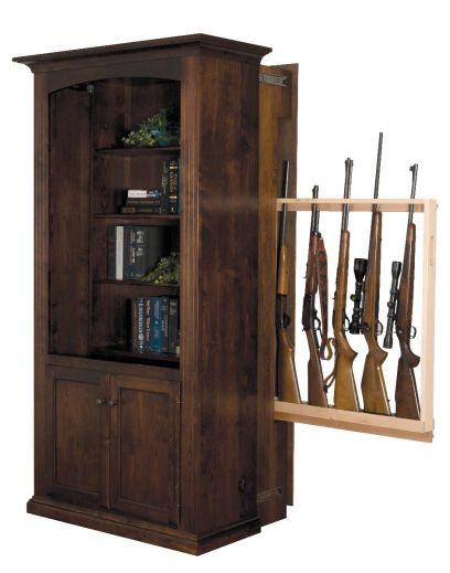 Hidden Gun Cabinet Bookcase With Doors