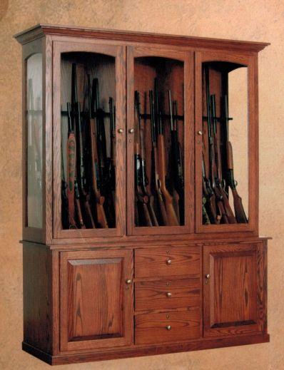 20 Gun Cabinet Oak Usa Cabinets